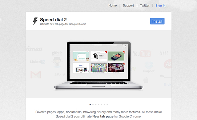 Speeddial 2 Google Chrome New tab extension